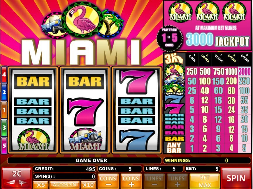 Play slot game for fun Miami