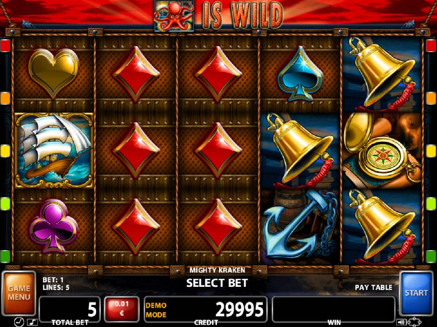A picture of the slot game Mighty Kraken