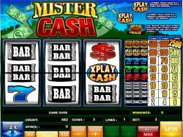 Spin online slot machine Mister Cash