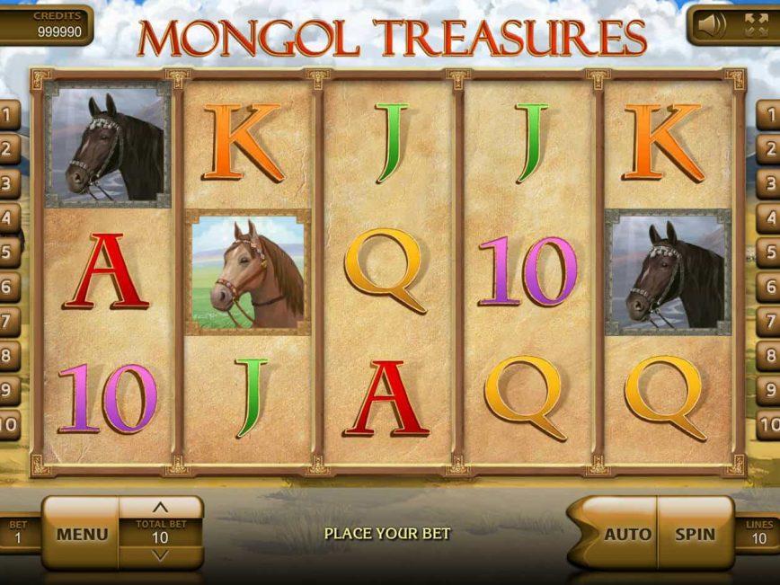 Mongol Treasures free slot game with no deposit