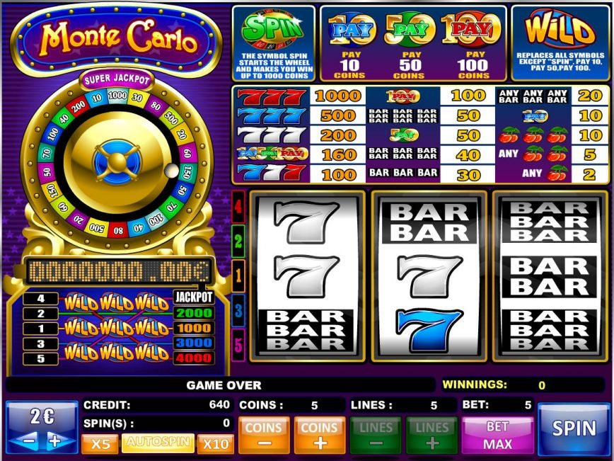 Free game online Monte Carlo