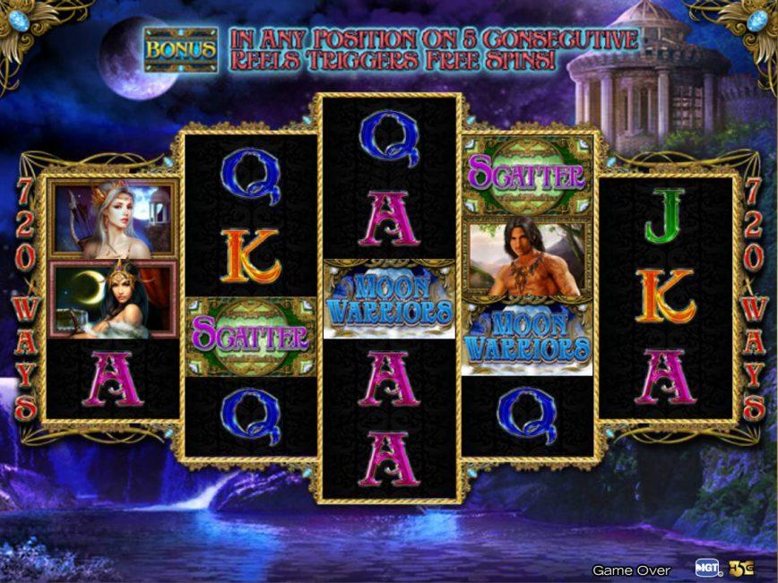Free casino game Moon Warriors