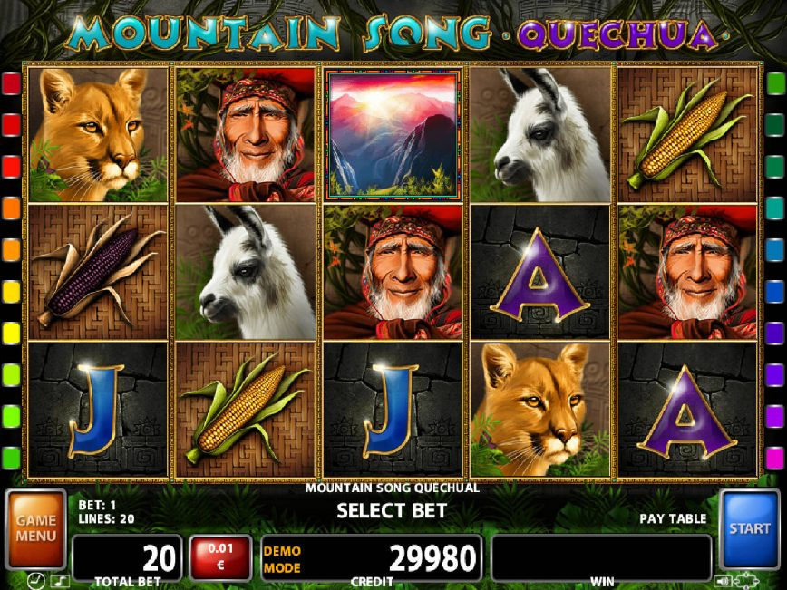 Free casino slot machine Mountain Song Quechua
