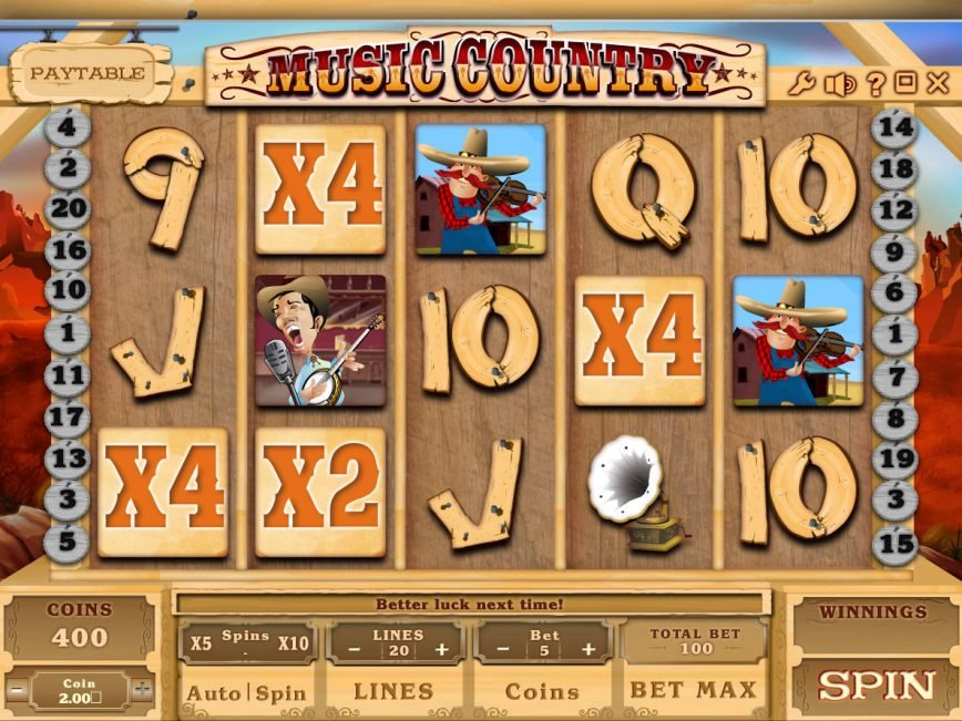 Spin slot game Music Country online