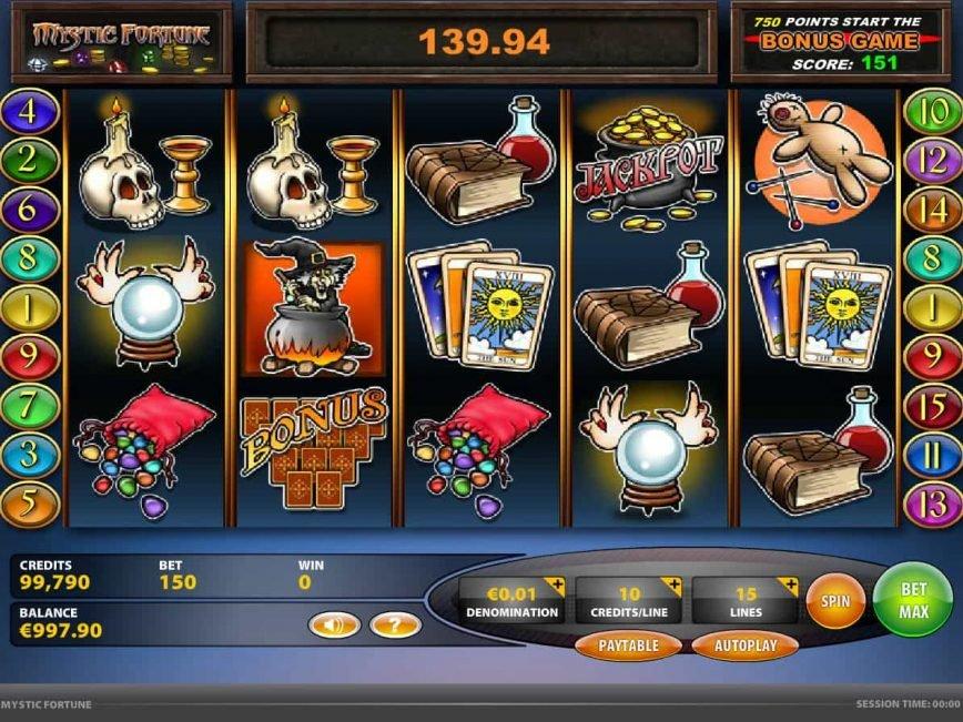 Free casino slot Mystic Fortune with no deposit