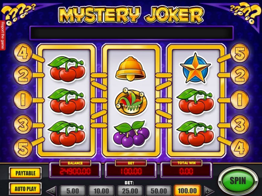 A picture of the slot game Mystery Joker online