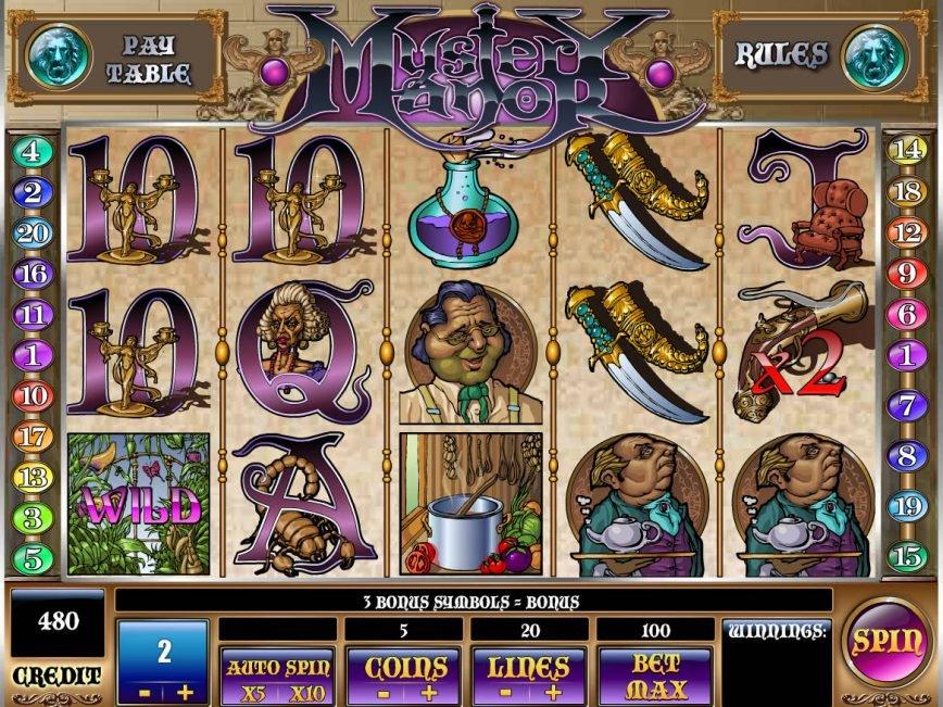 Play casino free slot Mystery Manor