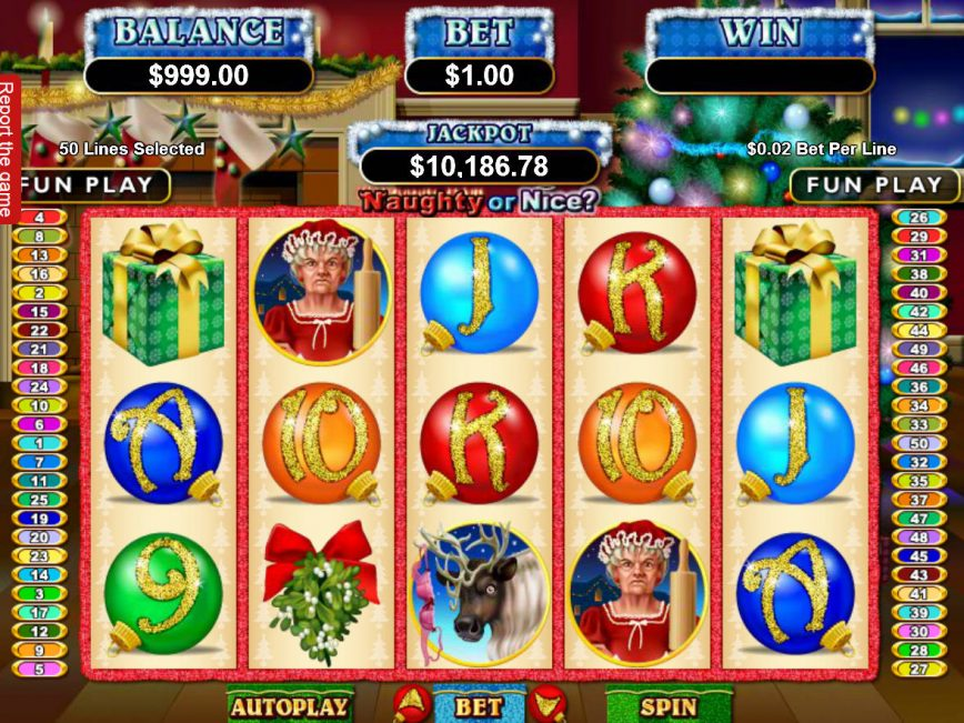 Spin free slot game Naughty or Nice