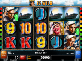 Navy Girl online casino slot game