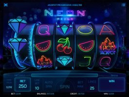 Play casino slot machine Neon Reels