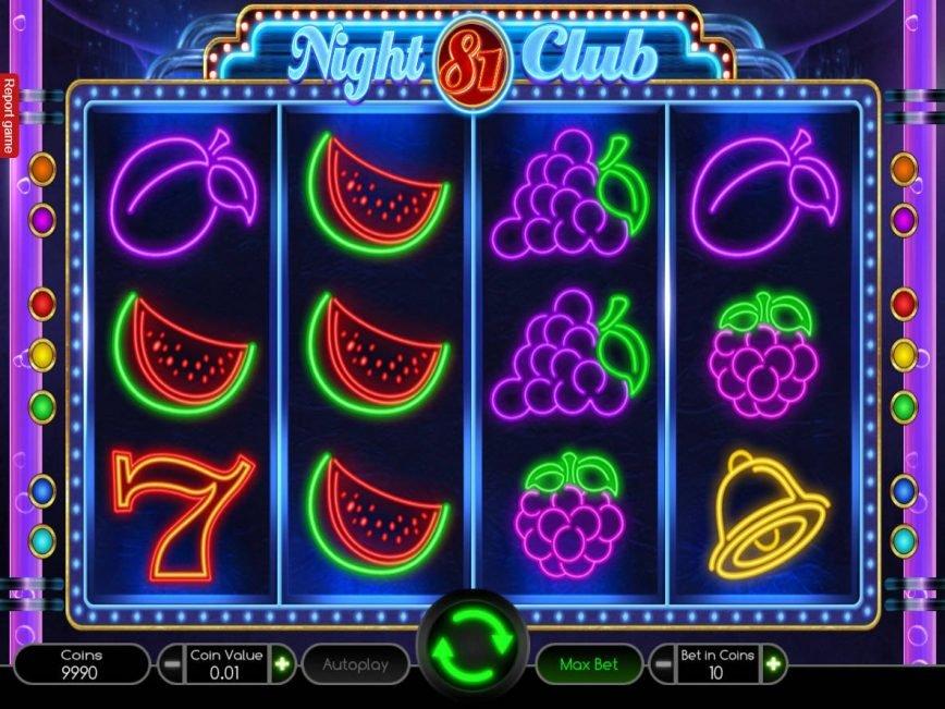 Play slot machine for fun Night Club 81