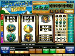 Pharaoh´s Lotus online casino game with no deposit