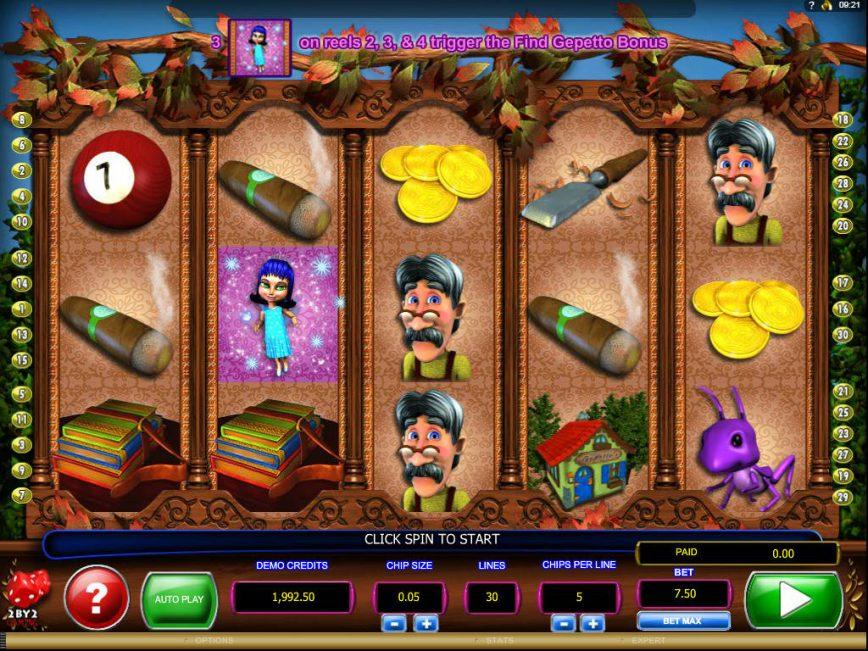 Pinocchio's Fortune casino free game