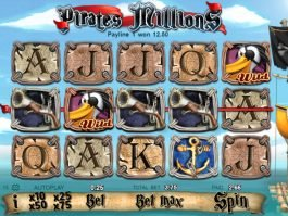 A picture of the slot game Pirates Millions