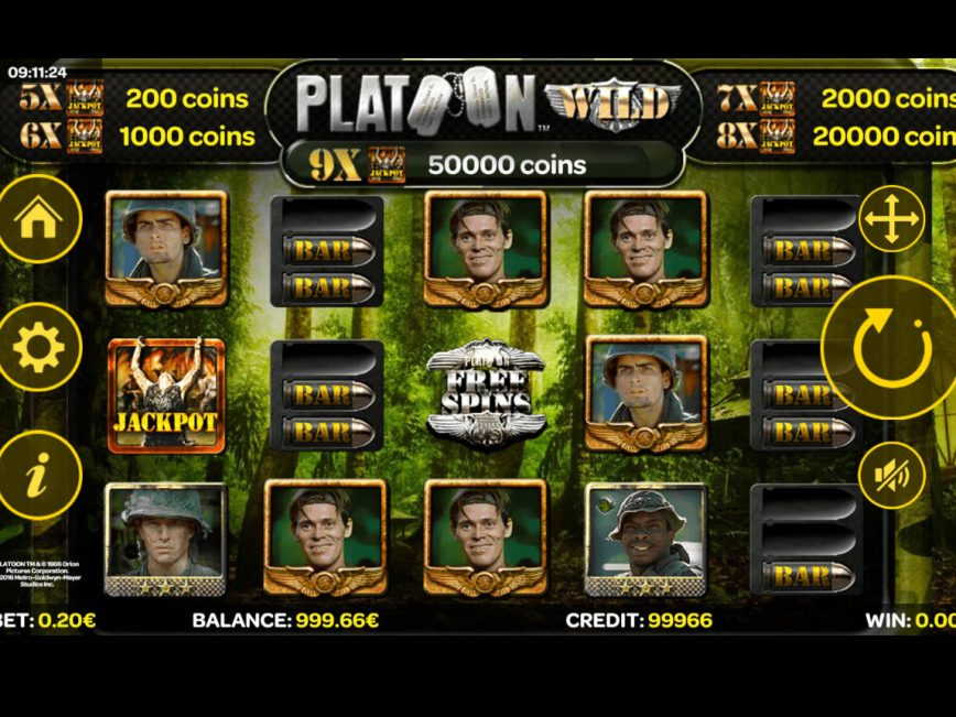 Slot machine for fun Platoon Wild