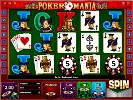 Casino slot machine Poker Mania