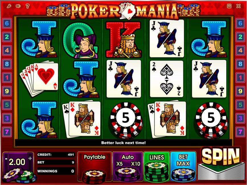 Poker Mania Slot Machine Play Free Online Game Slotu Com