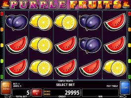 Online slot game Purple Fruits by Casino Technology
