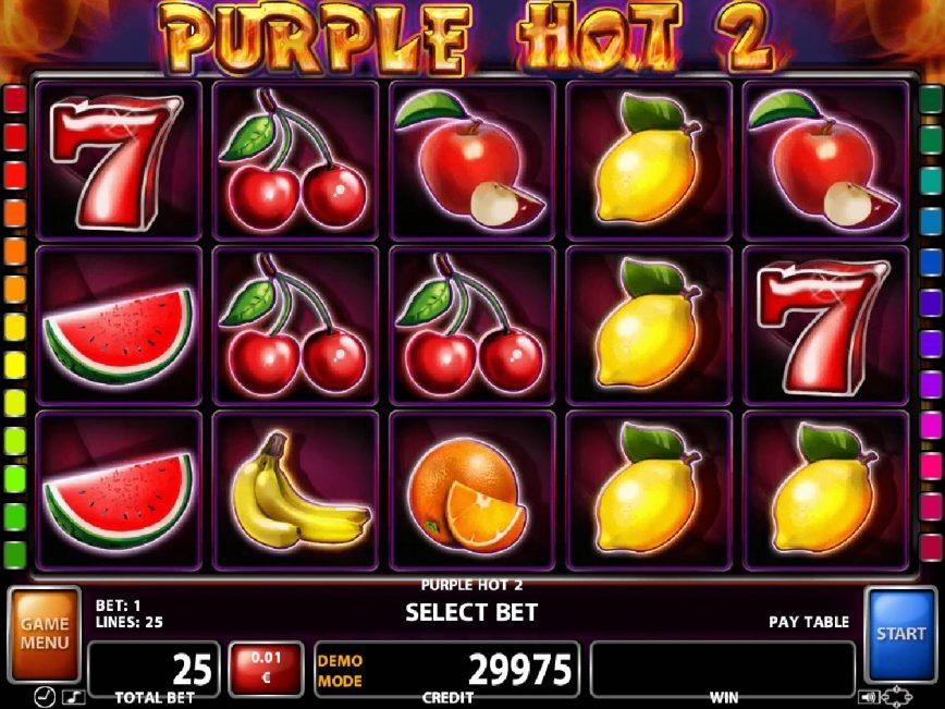 Spin free casino game Purple Hot 2