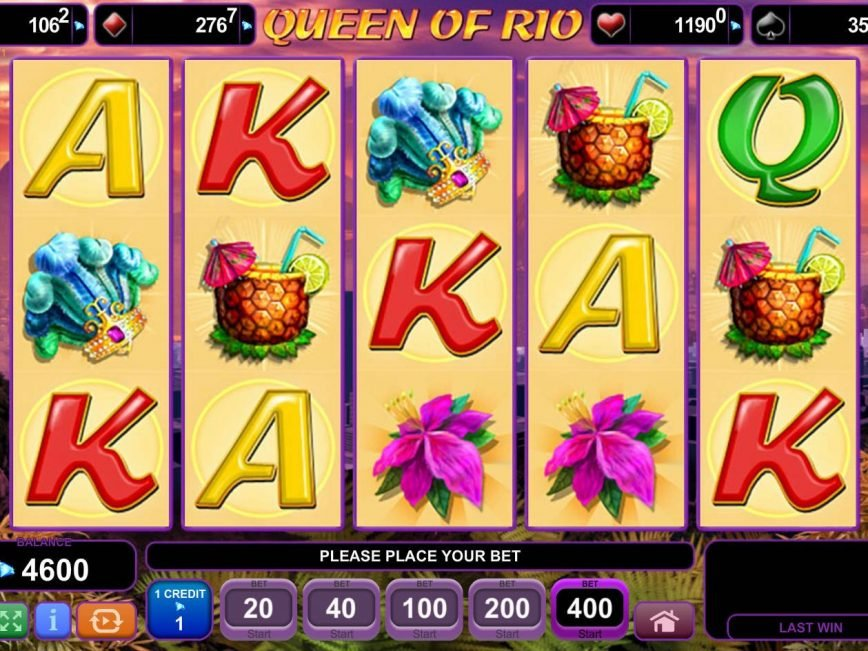 Spin slot game Queen of Rio for free