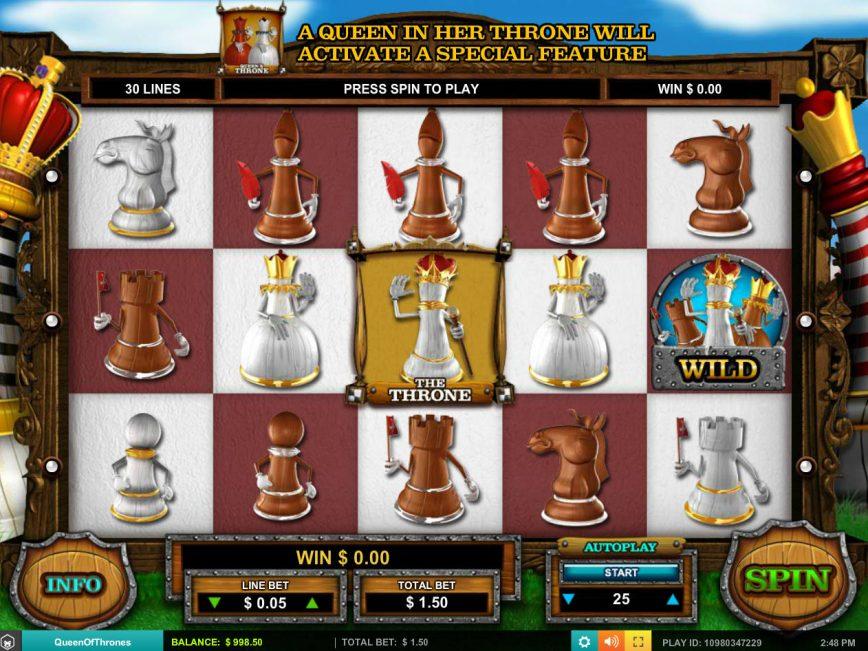 Casino slot machine Queen of Thrones