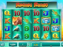 No deposit casino game Raging Rhiíno