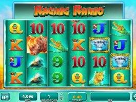 No deposit casino game Raging Rhiíno