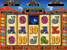 A picture of the slot game Red Sands