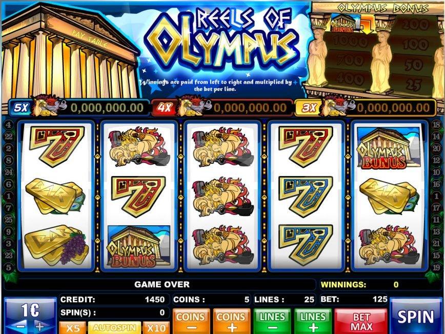 Slot machine for fun Reels of Olympus