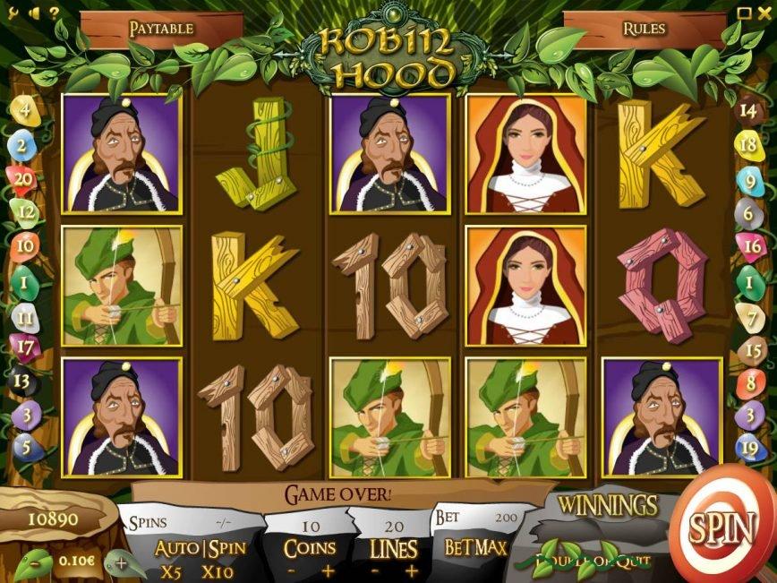 Online casino slot machine Robin Hood