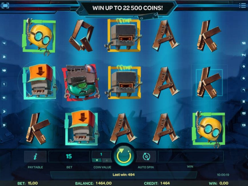 Play slot machine Robo Smash online