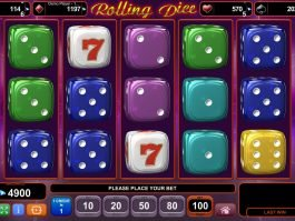 Play slot machine Rolling Dice no deposit