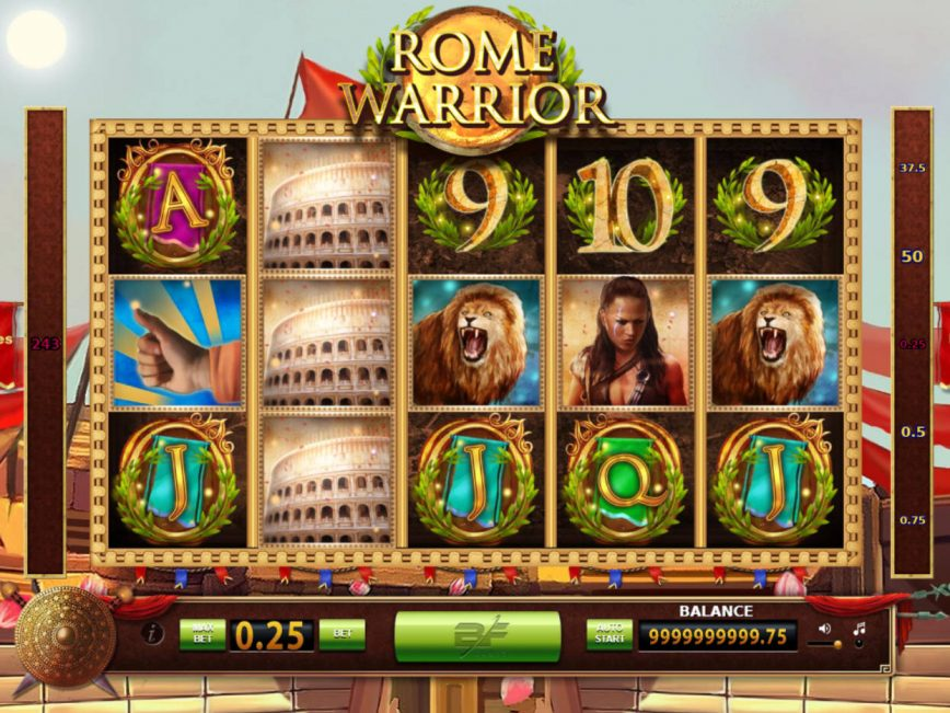 Rome Warrior slot machine with no deposit