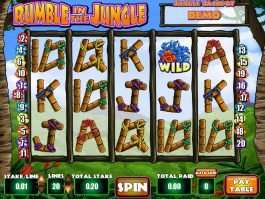 Rumble in the Jungle casino slot game