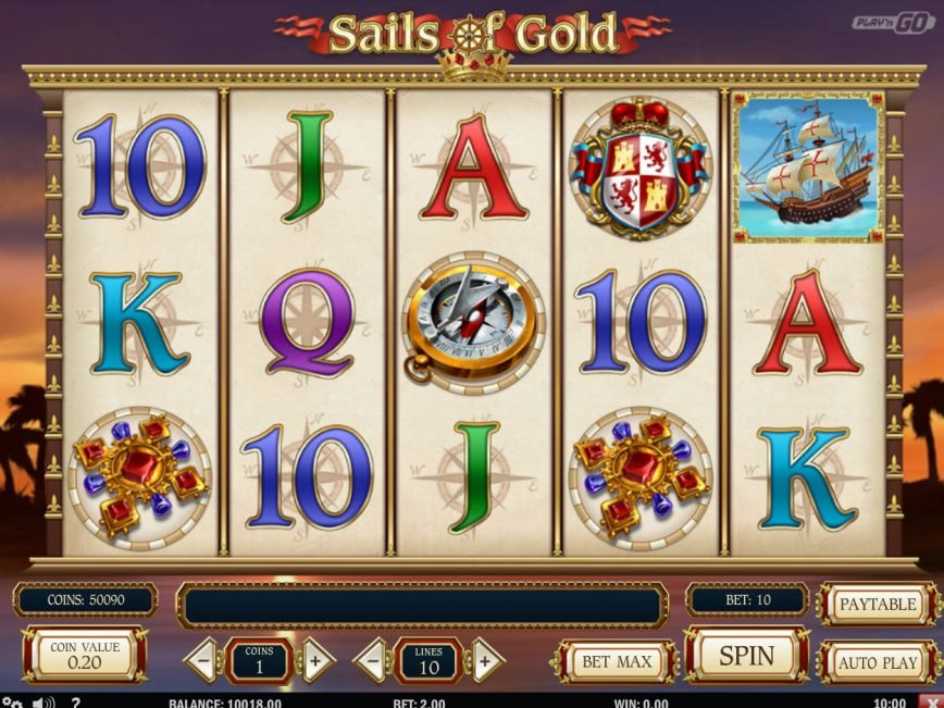 Online free slot machine Sails of Gold with no deposit