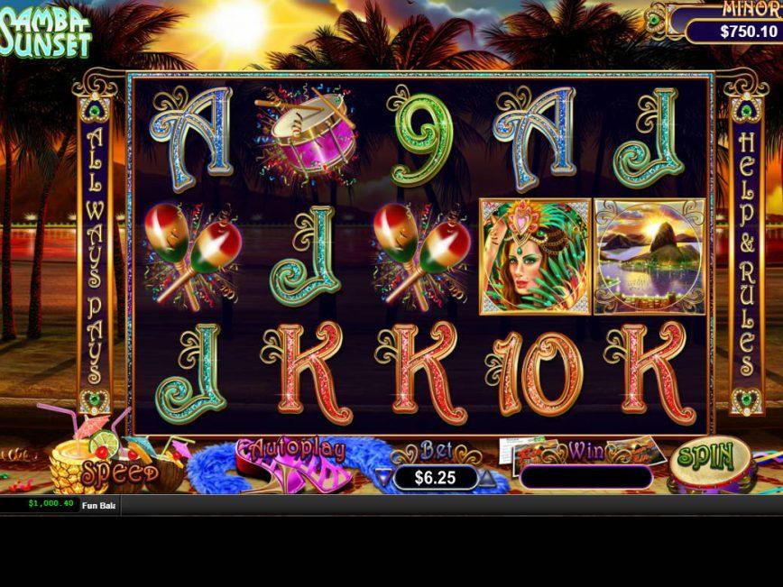 Spin slot machine Samba Sunset online