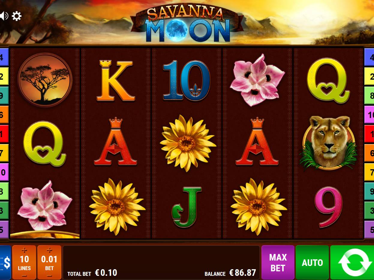 Savanna Moon Slots - Spielen Sie das Bally Wulff Spiel gratis online
