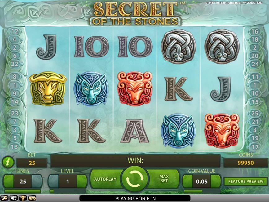 Secret of the Stones free slot no deposit
