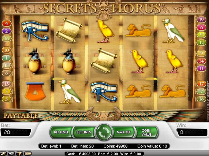 Online free slot Secrets of Horus for fun