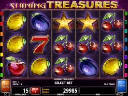 A picture of the casino slot game Shining Treasures