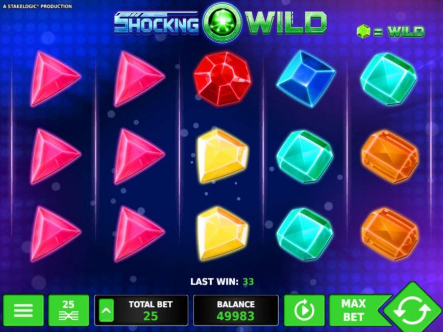 Play online free slot Shocking Wild