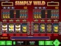 A picture of the casino slot game Simply Wild