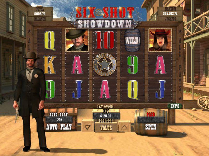 Six Shot Showdown free slot machine