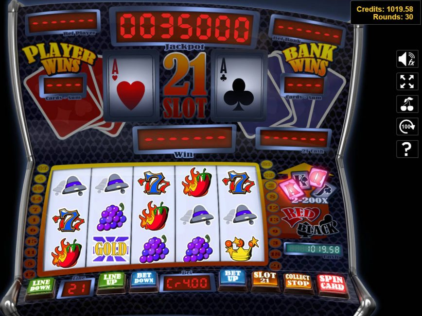 A picture of online game Slot 21