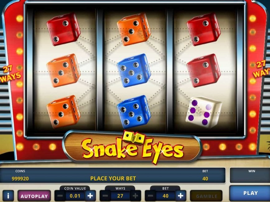 Online free slot machine Snake Eyes