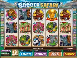 Play free casino game Soccer Safari