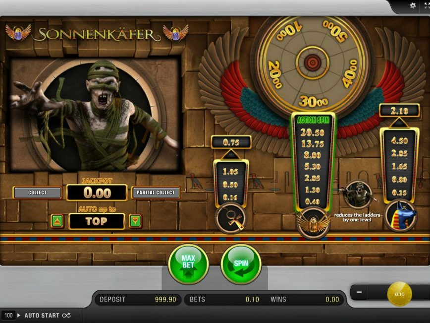 A picture of the casino free game Sonnerkafer