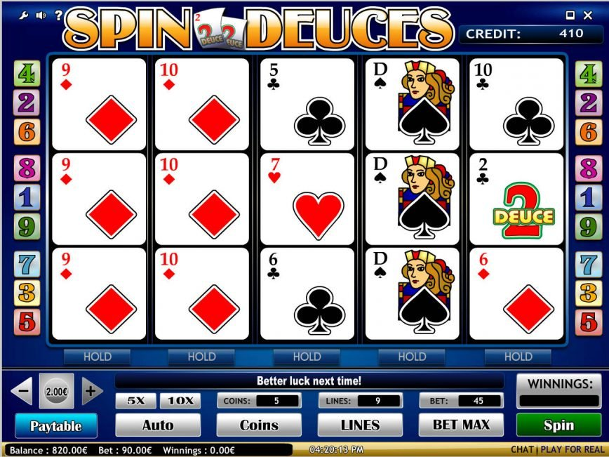 No download slot game Spin Deuces