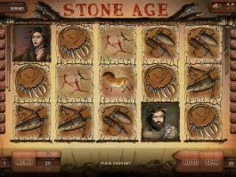 A picture of the casino slot machine Stone Age