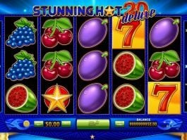 Stunning Hot 20 Deluxe free slot game with no deposit